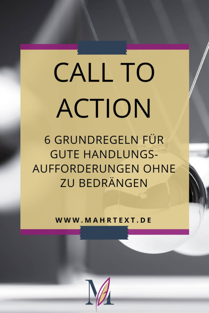 Call-to-Action-Grundregeln