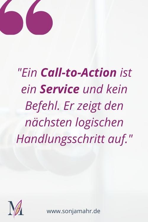 Ein Call-to-Action ist ein Service und kein Befehl.
