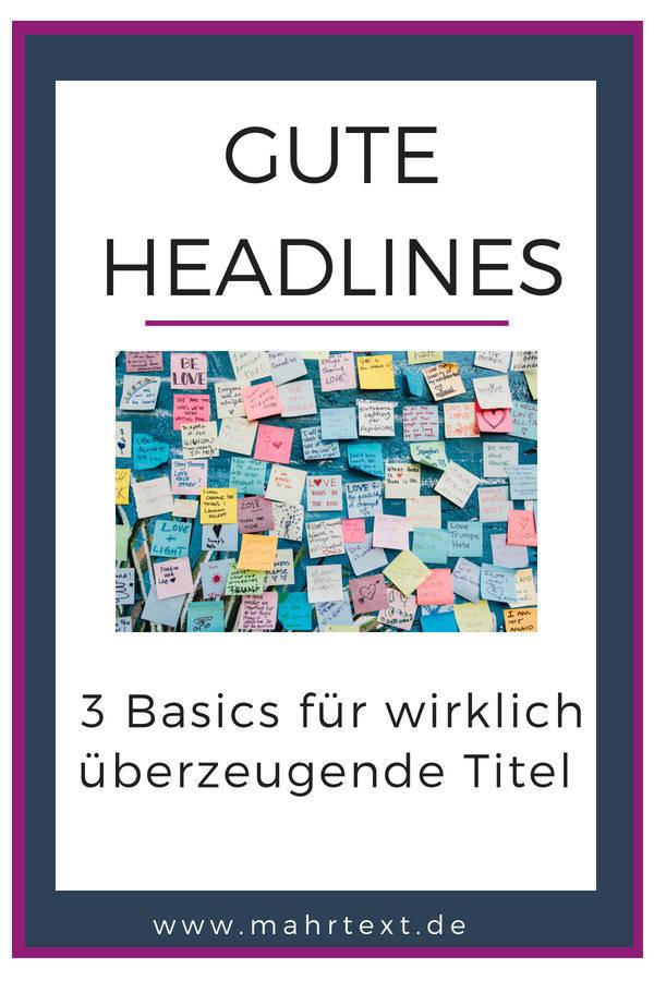 Tipps für gute Headlines