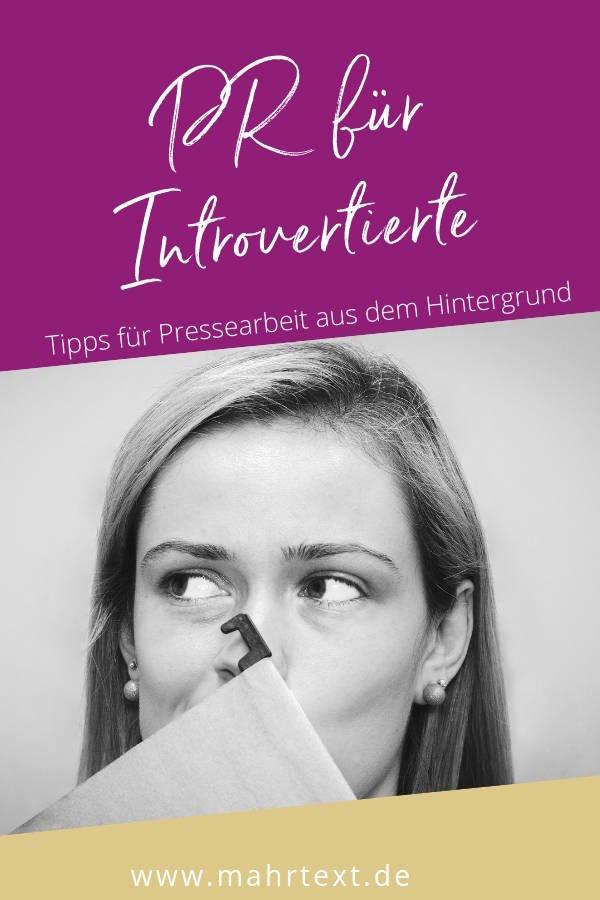 PR Introvertierte Tipps für Pressearbeit aus dem Hintergrund