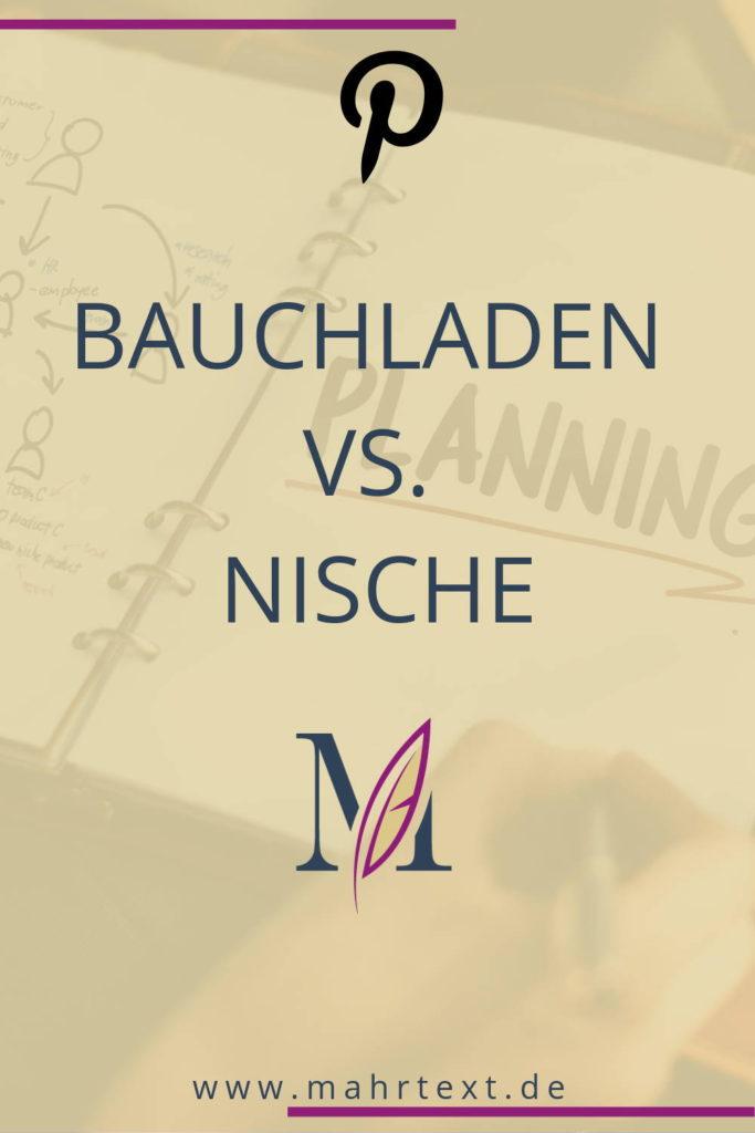 Bauchladen vs. Nische