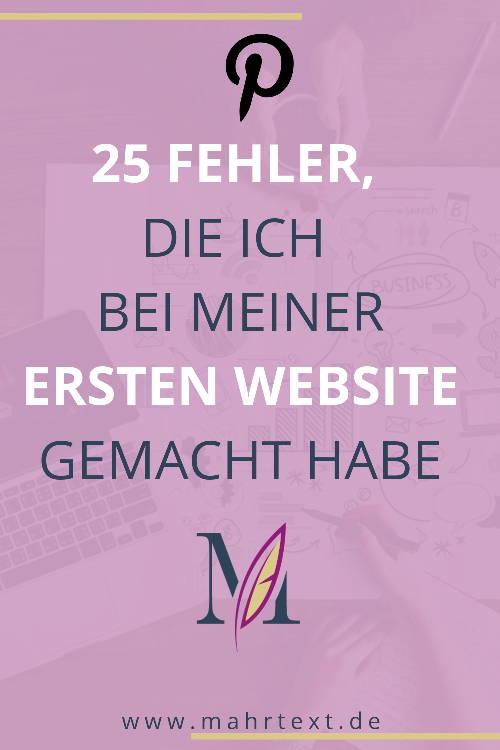 Pin erste Website 25 Fehler