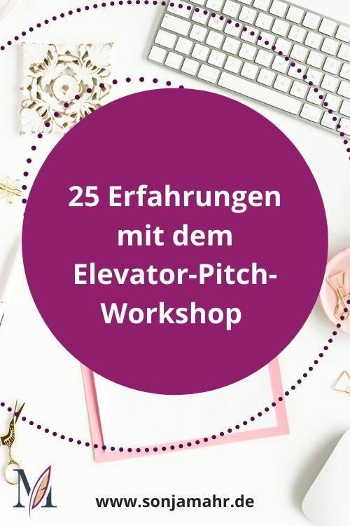 25 Erfahrungen mit dem Elevator-Pitch-Workshop Pin