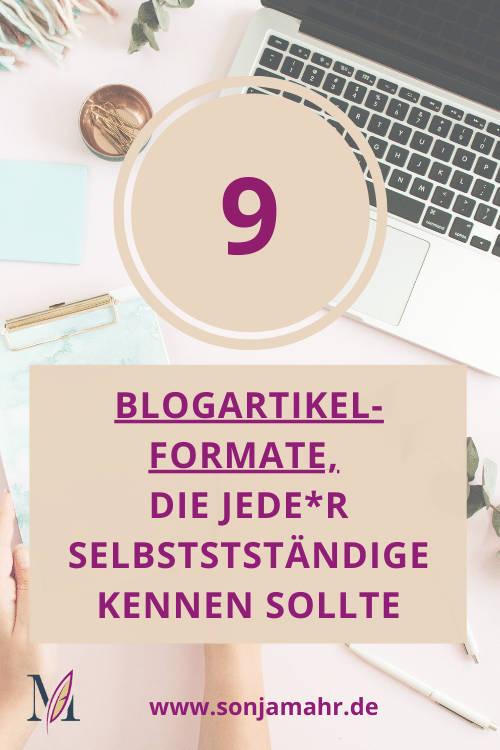 Blogartikelfrmate, die jedr Selbstständige kennen soltle